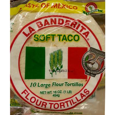 Top 50 most popular: flour tortilla