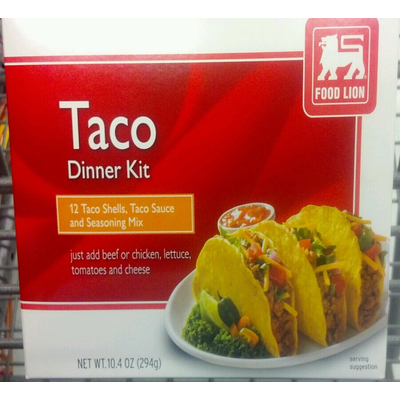 Calories In Taco Dinner Kit From Food Lion