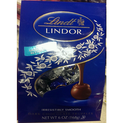 Calories In Lindor Dark Chocolate Truffles From Lindt