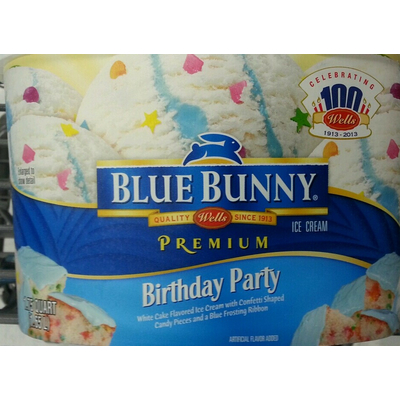 Calories In Ice Cream Birthday Party From Blue Bunny