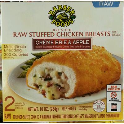 Calories In Breaded Raw Stuffed Chicken Breasts With Rib Meat Creme