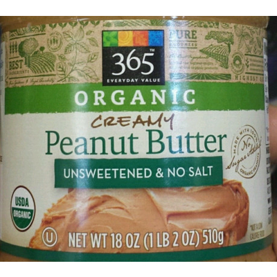 365 Everyday Value, Organic Creamy Peanut Butter image