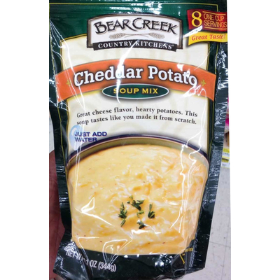 calories in cheddar potato soup mix from bear creek country kitchens rh nutritionix com Bear Creek Soup Pots Address Bear Creek Country Kitchens