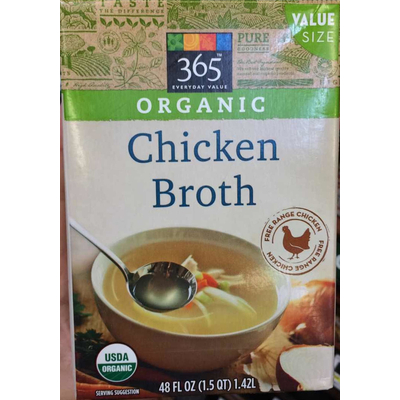 Calories In Chicken Broth Organic From 365 Everyday Value