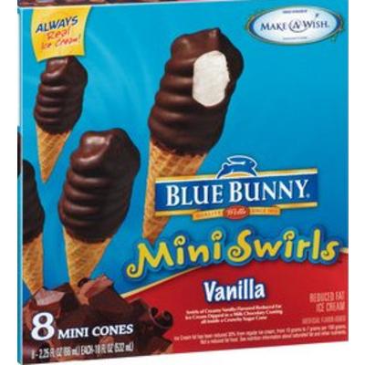 Mini Swirls Vanilla Ice Cream Cones
