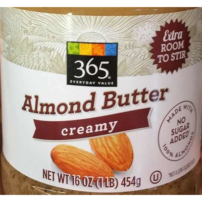 365 Everyday Value, Almond Butter, Creamy image