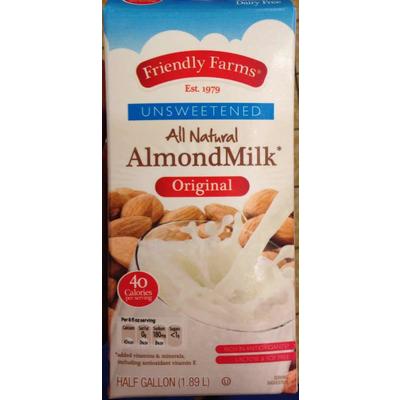Calories in Unsweetened All Natural Almondmilk, Original