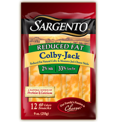Calories in Reduced Fat Colby-Jack Cheese Sticks from Sargento
