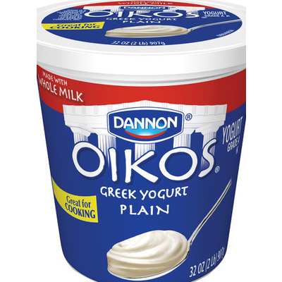 Calories In Oikos Plain Greek Yogurt From Dannon