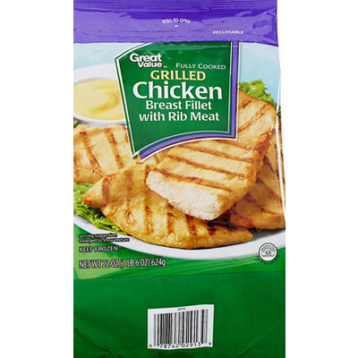 Calories In Chicken Breast Fillet With Rib Meat From Great Value