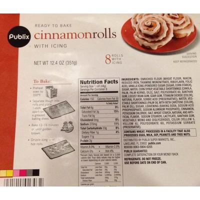 Pillsbury Mini Cinnamon Rolls Nutrition Facts Nutrition