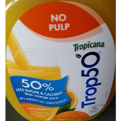 Trop50, 50% Less Sugar