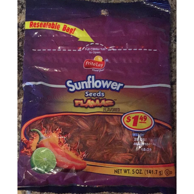 Calories in Sunflower Seeds, Flamas Flavored from Frito Lay