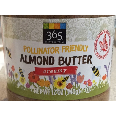 365 Everyday Value, Pollinator Friendly Almond Butter, Creamy image