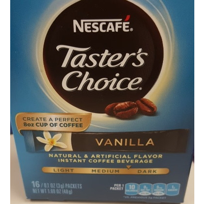 Taster's Choice Instant Coffee, Vanilla