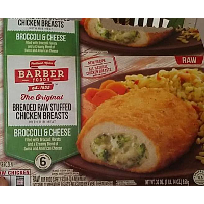 Search Results For Barber Foods Premium Entrees Raw Stuffed Chicken