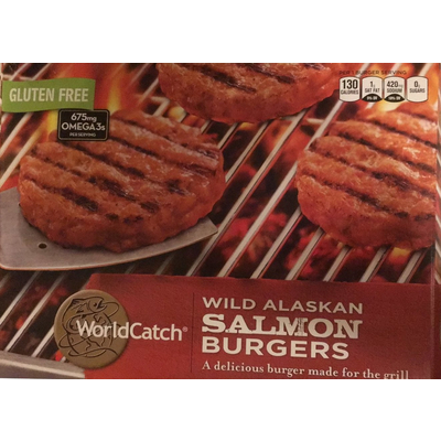 Calories in Wild Caught Chipotle Salmon Burger from Fremont