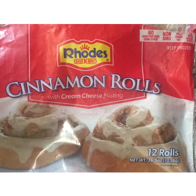 Calories In Cinnamon Rolls With Cream Cheese Frosting From Rhodes