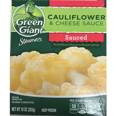 Browse All Green Giant Products. Popular Vegetable Dishs. Cauliflower U0026  Cheese Sauce, Sauced
