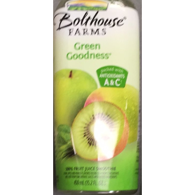 Fruit Juice Smoothie, Green Goodness. Bolthouse Farms