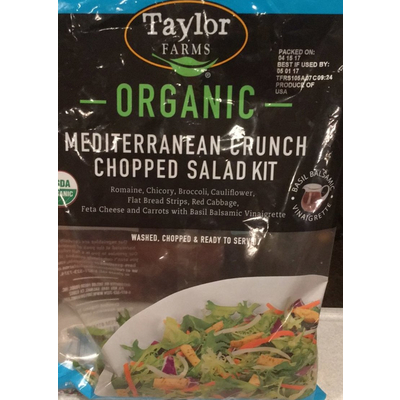 Calories in Organic Mediterranean Crunch Chopped Salad Kit