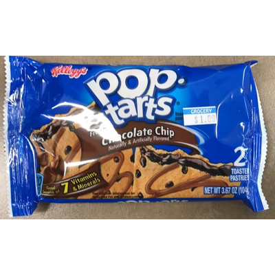 Pop-Tarts, Toaster Pastries, Frosted Chocolate Chip
