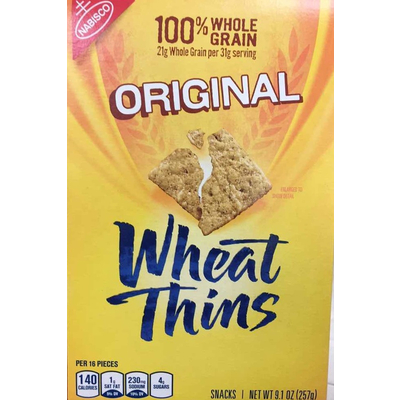 Calories in Wheat Thins Original Whole Grain Crackers